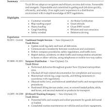 truck driver resume examples truck driver resume sample and tips