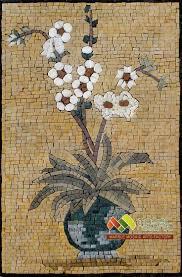 Kitchen Backsplash Mosaic 134 Best Mosaic Flowers Images On Pinterest Stained Glass