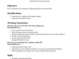 Bartender Responsibilities Resume Bartender Resume Templates Bartender Resume Description Bartender