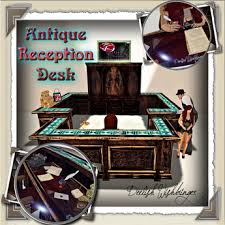 Antique Reception Desk Second Life Marketplace Dd Antique Reception Desk