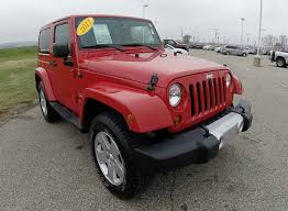 wrangler jeep 2 door 2011 jeep wrangler sahara red matching hardtop 2 door p9995a