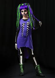 coupons for halloween costumes com child purple u0026 green skeleton costume