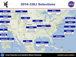California Missions Map Nasa Announces Seventh Round Of Candidates For Cubesat Space Missions