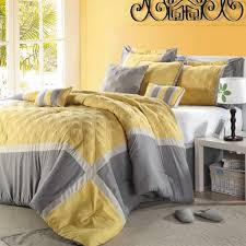 Grey And Yellow Crib Bedding Bedroom Feminine Damask Gray And Yellow Bedding Set With White