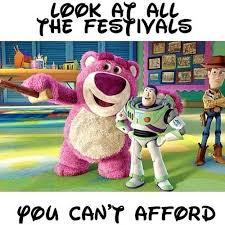 Music Festival Meme - music festivals cost a pretty penny in 2016viral pirate