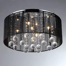 Chrome Flush Mount Ceiling Light by Shop Warehouse Of Tiffany Crystal 17 In W Chrome Flush Mount Light