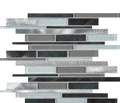 Cityscape MetalGlassInterlocking - Glass and metal tile backsplash