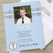 my communion boy s communion personalized photo thank you cards