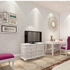 2016 new white 3d modern design brick wallpaper roll vinyl wall