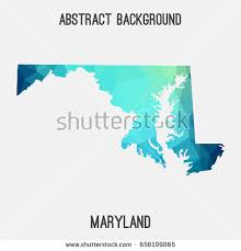 maryland map vector maryland map geometric polygonalmosaic style cold stock vector