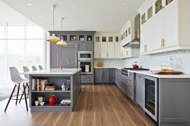 kitchen cabinets top and bottom white top cabinets gray bottom cabinets contemporary