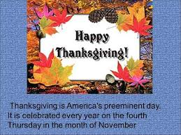 thanksgiving day the fourth thursday of november in the usa ppt