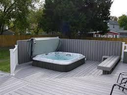 63 best tub deck images on pinterest backyard ideas garden
