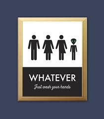 Unisex Bathroom Ideas Creative Unisex Bathroom Signs On Bathroom Throughout Best 25