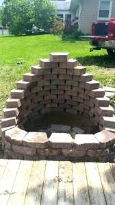 Firepit Blocks Landscape Brick Pit Pit Bowl Insert Diy Backyard