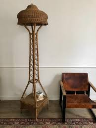 rattan floor lamp for home styling