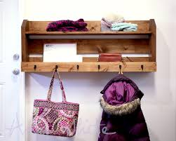 Free Wood Wall Shelf Plans by Ana White Small Pallet Inspired Coat Rack With Shelves Diy