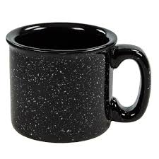 Coffe Mug by Santa Fe Campfire Mug Sand Black Ceramic Coffee Mugs