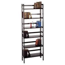 bookcase bookshelf furniture stackable and folding shelf in black