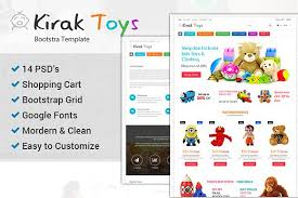 toys bootstrap ecommerce psd website templates creative market