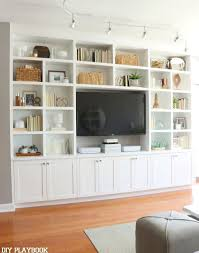 decorating built ins home appealing top new built ins for living room household decor