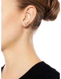 climber earrings fallon shalom pave graduated climber earrings ifchic