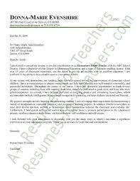 cover letter sample for teachers lukex co