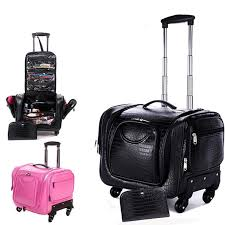 Professional Makeup Carrier Professional Makeup Bag Cosmetics Cases Large Capacity Trolley