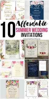 summer wedding invitations 10 affordable summer wedding invitations here comes the sun
