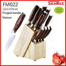 high quality kitchen knives 12pcs high quality kitchen knife set deluxe pakka wood handle with