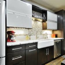 stunning brown maple wood merillat kitchen cabinets with double