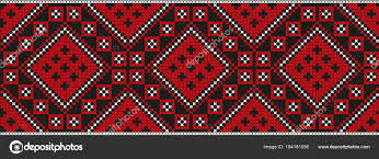 ukraine pattern vector embroidered cross stitch ethnic ukraine pattern vector stock
