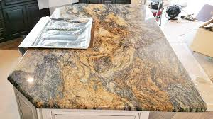 blue fire granite kitchen island rustic ranch style home