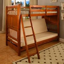 Wooden Bunk Bed With Futon How To Sew The Corner Futon Mattress Covers Vaneeesa All Bed And