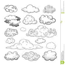 doodle collection of vector clouds stock vector