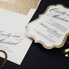 glitter wedding invitations gold glitter wedding invitations chic shab design