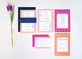 contemporary indian wedding invitations sona s modern colorful wedding invitations