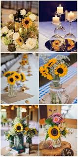 sunflower wedding decorations 47 sunflower wedding ideas for 2016 sunflower wedding