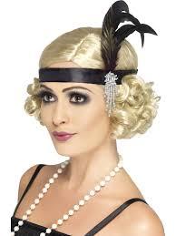 roaring 20 s fashion hair ladies 20s charleston feather headband 1920s flapper gangsters