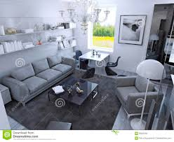 contemporary living room in daylight stock illustration image