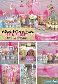 princess birthday party a disney princess party on a budget plus free printables