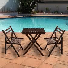 buy delta range solid wood outdoor folding furniture set 2