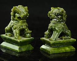 jade lion statue jade lion etsy