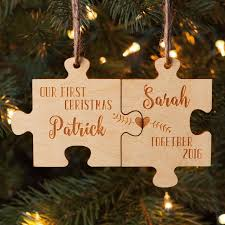 our together personalized wood ornament set