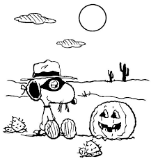 halloween coloring pages snoopy charlie brown coloring