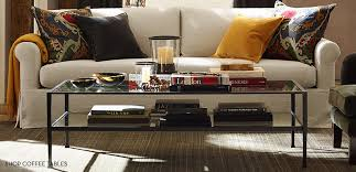 decorate livingroom how to decorate a coffee table pottery barn