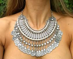 necklace aliexpress images Bohemian silver coin necklace set indian bridal jewelry set jpg