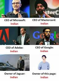 Indian Meme - dopl3r com memes ceo of microsoft ceo of mastercard indian