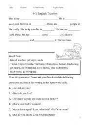 english teaching worksheets guided writing