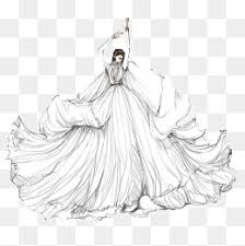 hand painted wedding dress model illustration hand painted dress